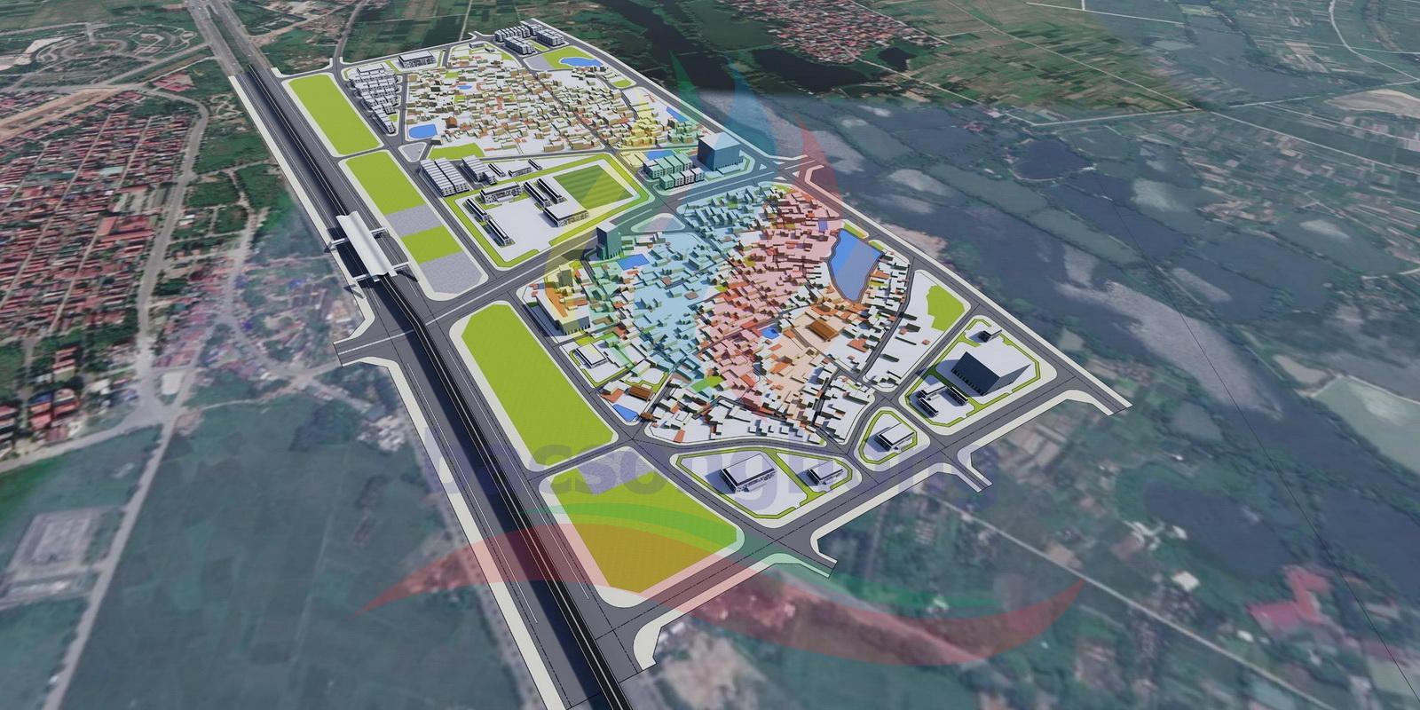 Minh họa Quy hoạch chi tiết một số thôn tại xã Xuân Canh