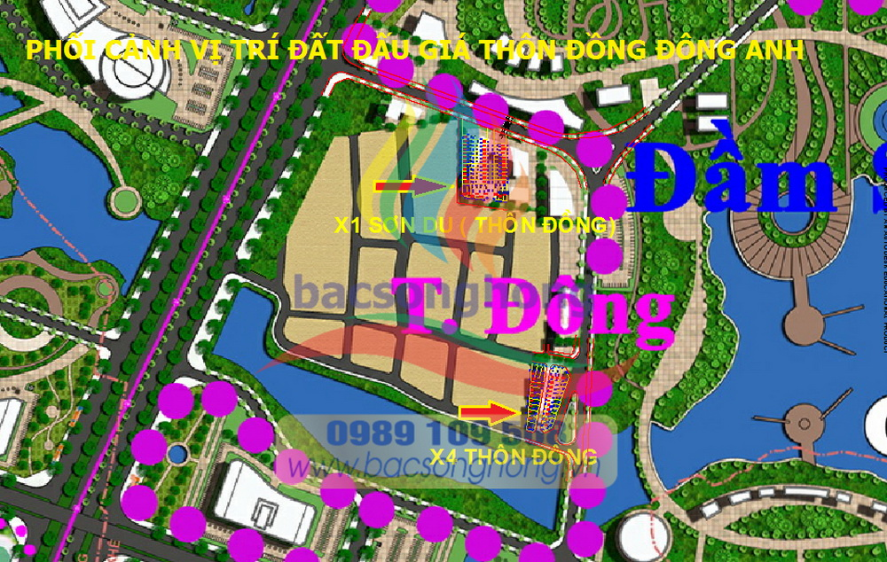 Phối cảnh quy hoạch đất đấu giá thôn Đồng Đông Anh