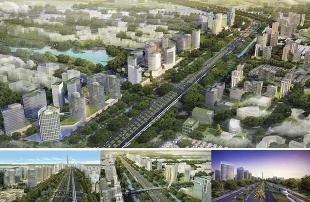 Phối cảnh tổng thể toàn bộ khu siêu đô thị trị giá gần 4,2 tỷ USD. Dự kiến hoàn thành vào năm 2028