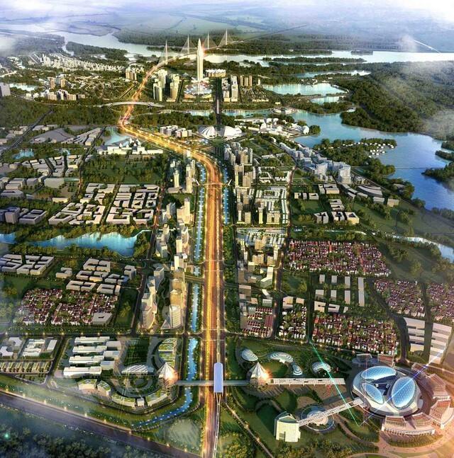 Hạ tầng của khu siêu đô thị được đồng bộ, kết nối cho cả dự án theo ý tưởng của công ty tư vấn P&T Consultants Pte Ltd.