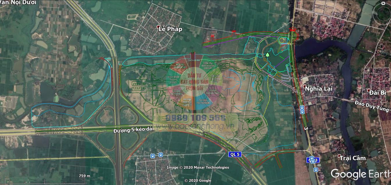 Vị trí dự án công viên Kim Quy