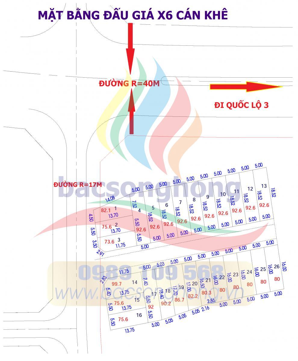 Quy hoạch và tổng mặt bằng đấtX6 Cán Khê