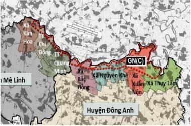 Phê Duyệt quy hoạch phân khu đô thị GN(C) tại huyện Mê Linh và Đông Anh, tỷ lệ 1/5000