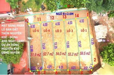 Bán đất Nguyên Khê 273.3 m2 ngay cạnh dự án Đông Nguyên Khê